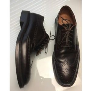 J.Crew Gifford Wingtip Brown Leather Dress Shoes
